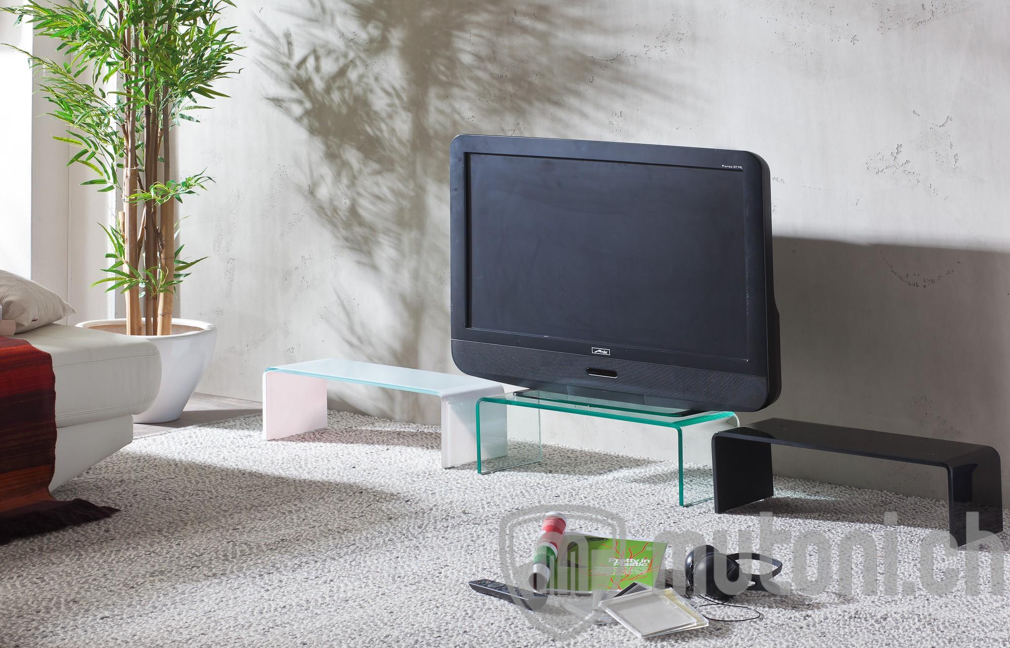 tv aufsatz glas hagen 90cm schwarz tv aufs tze tv m bel wohnzimmer m bel mutoni m bel. Black Bedroom Furniture Sets. Home Design Ideas