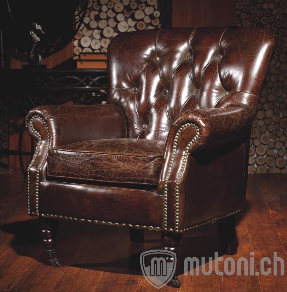 Vintage leder sessel hampton vintage sessel sessel for Wohnzimmer sessel vintage