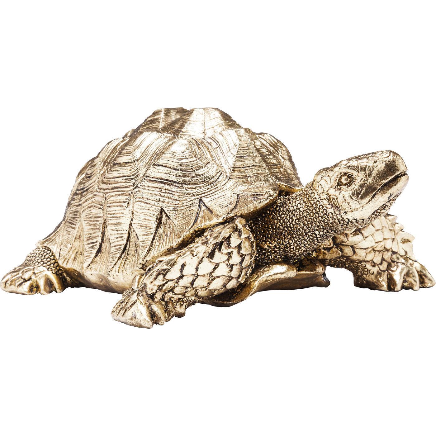 Deko Figur Turtle Gold Small