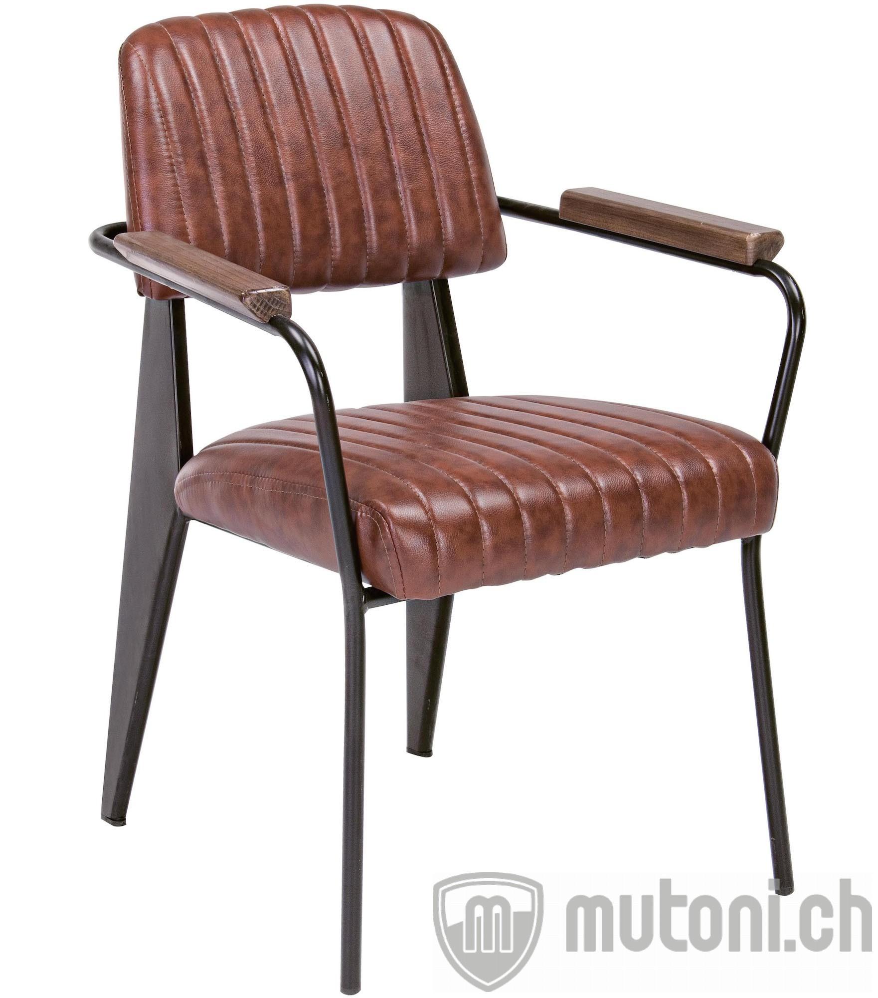 armlehnstuhl nelly vintage braun mutoni lifestyle mutoni m bel. Black Bedroom Furniture Sets. Home Design Ideas