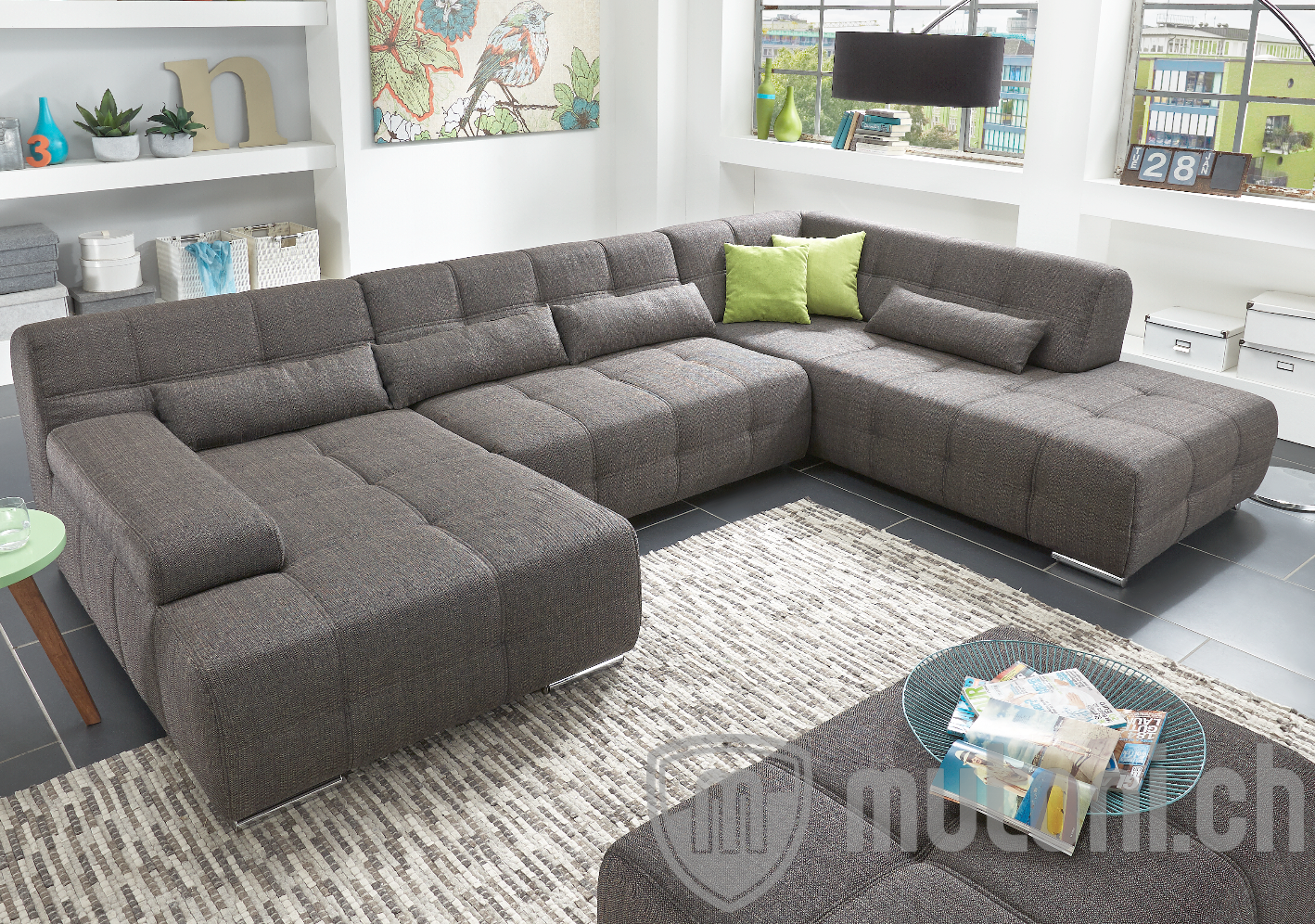 u sofa warner 173x344x231 in verschiedenen ausf hrungen mutoni design mutoni m bel. Black Bedroom Furniture Sets. Home Design Ideas