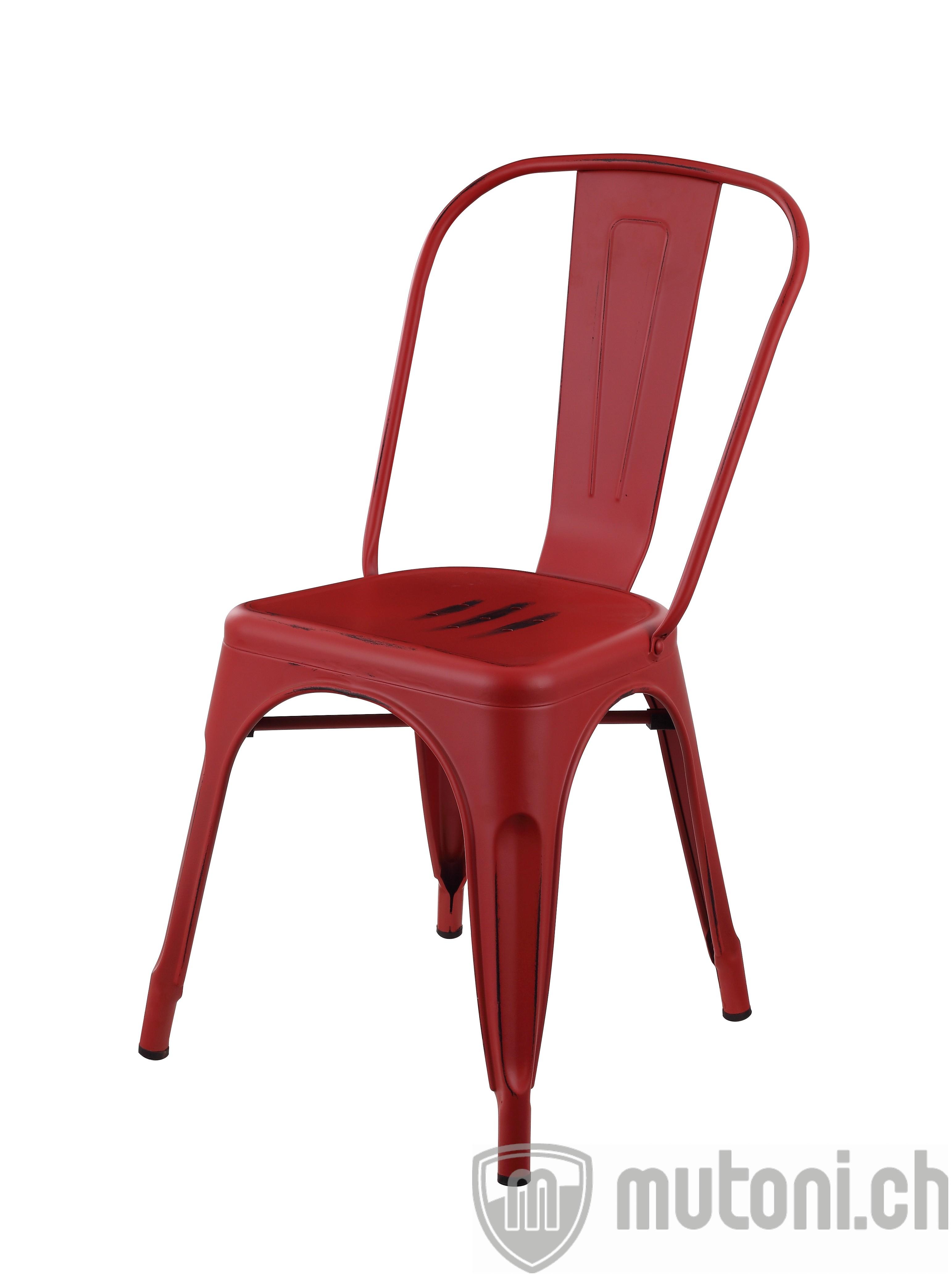 Chaise de salle manger industry loft rouge mutoni for Cuisines design industries saint philbert de bouaine