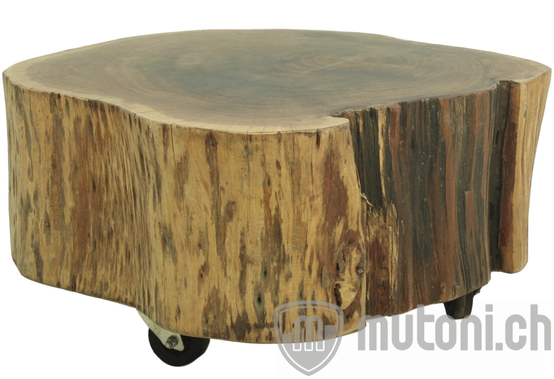 beistelltisch baumstamm - akazie massivholz | beistelltische | couch