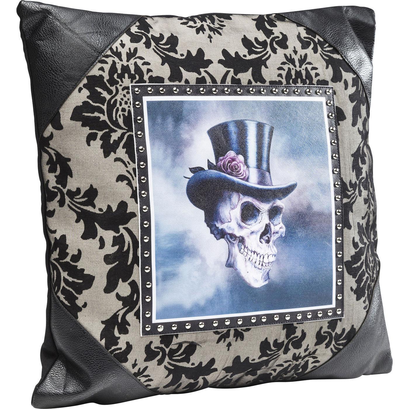 kissen gentlemen skull 45x45cm kare design mutoni m bel. Black Bedroom Furniture Sets. Home Design Ideas