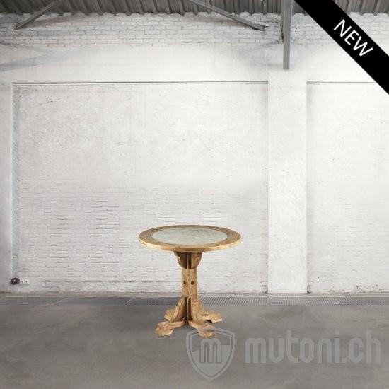 runder esszimmertisch snack beton dialma brown mutoni m bel. Black Bedroom Furniture Sets. Home Design Ideas