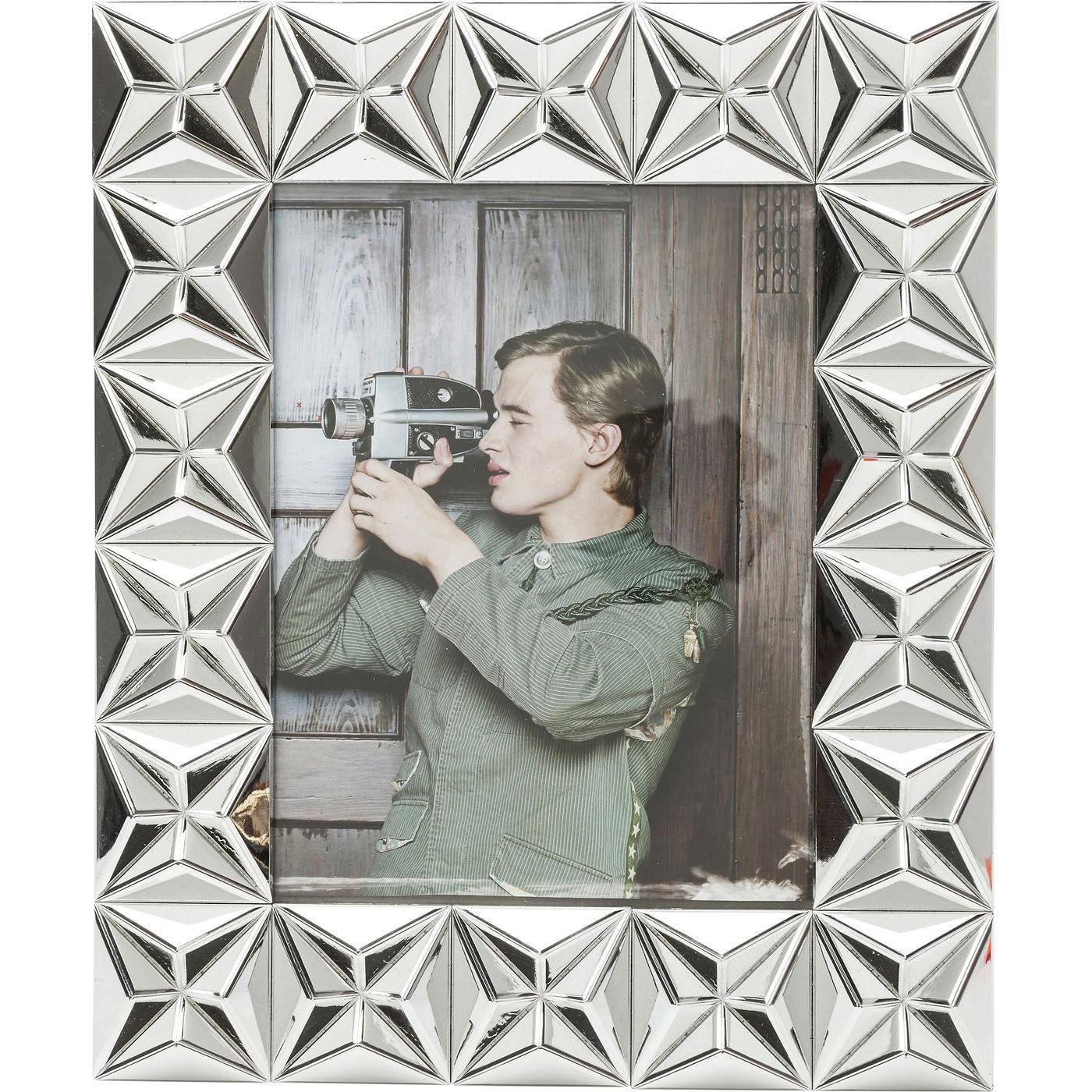 rahmen punch silver 13x18cm kare design mutoni m bel. Black Bedroom Furniture Sets. Home Design Ideas