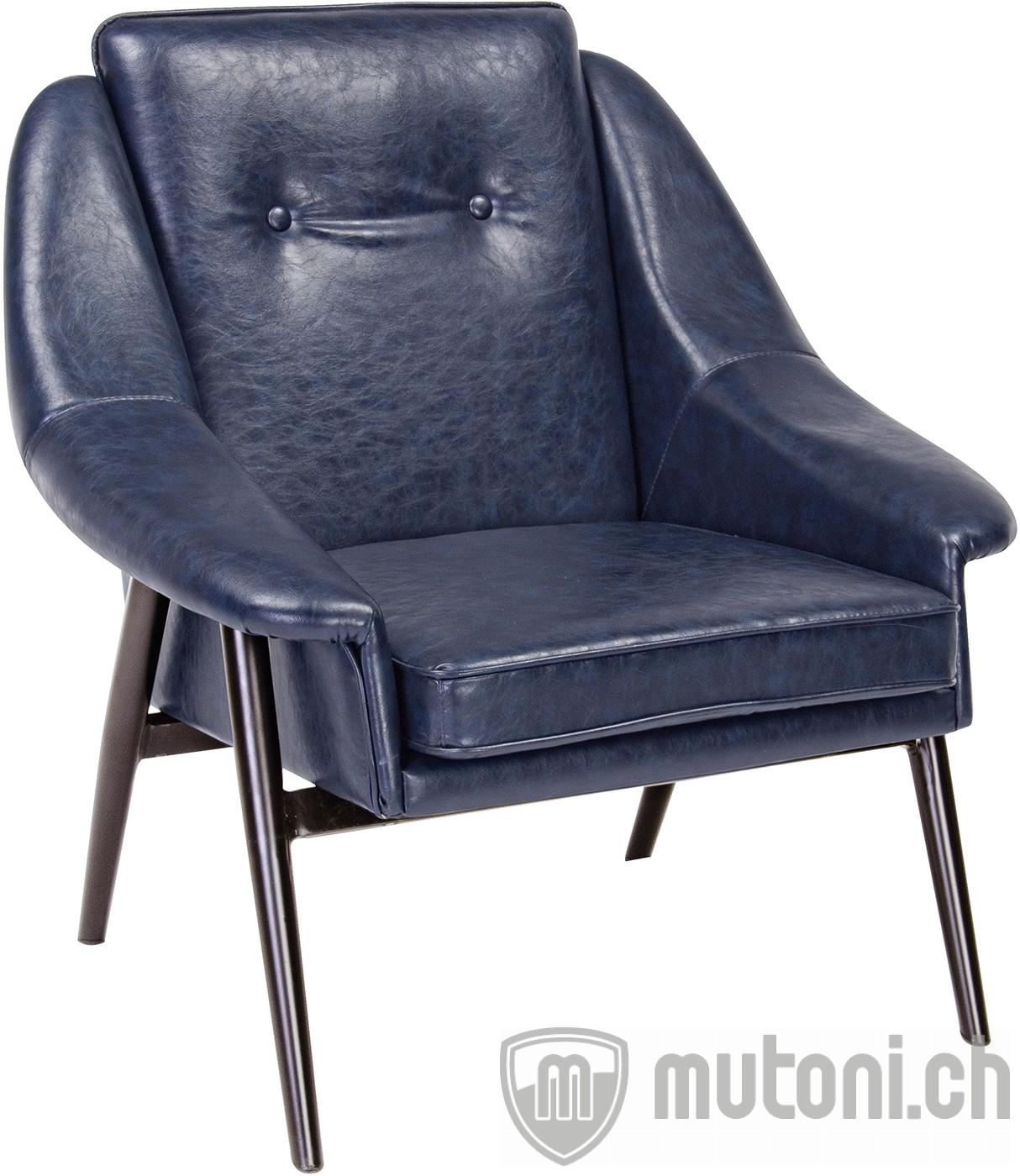 Sessel magnum b vintage blau vintage sessel sessel for Wohnzimmer sessel vintage