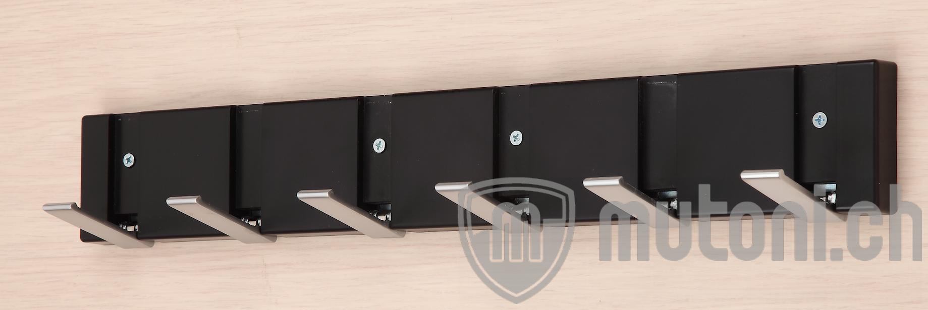 wandgarderobe bueno 48cm schwarz mutoni design mutoni. Black Bedroom Furniture Sets. Home Design Ideas