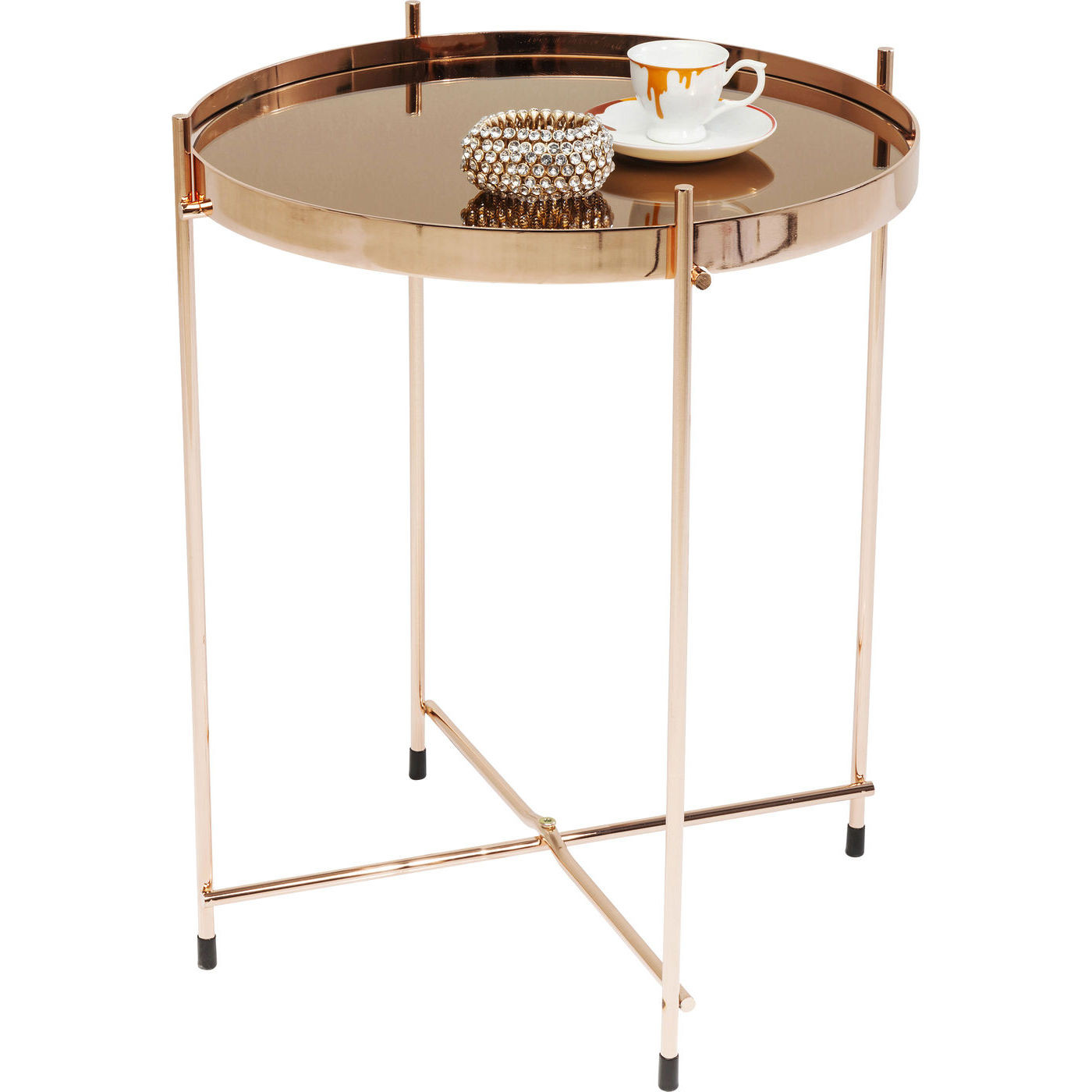 beistelltisch miami rosegold 42cm kare design mutoni m bel. Black Bedroom Furniture Sets. Home Design Ideas