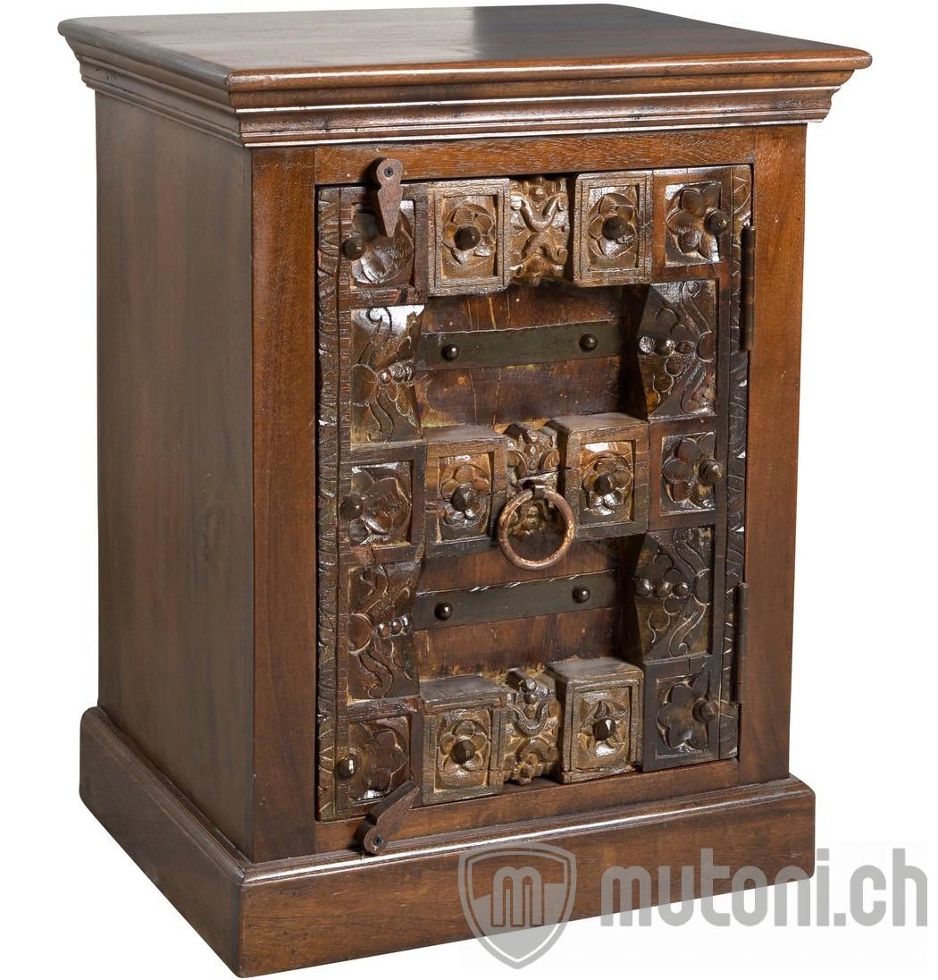 Schlafzimmer Einrichten 1001 Nacht: Nachttisch Vintage 1001 Nacht Braun 55x70