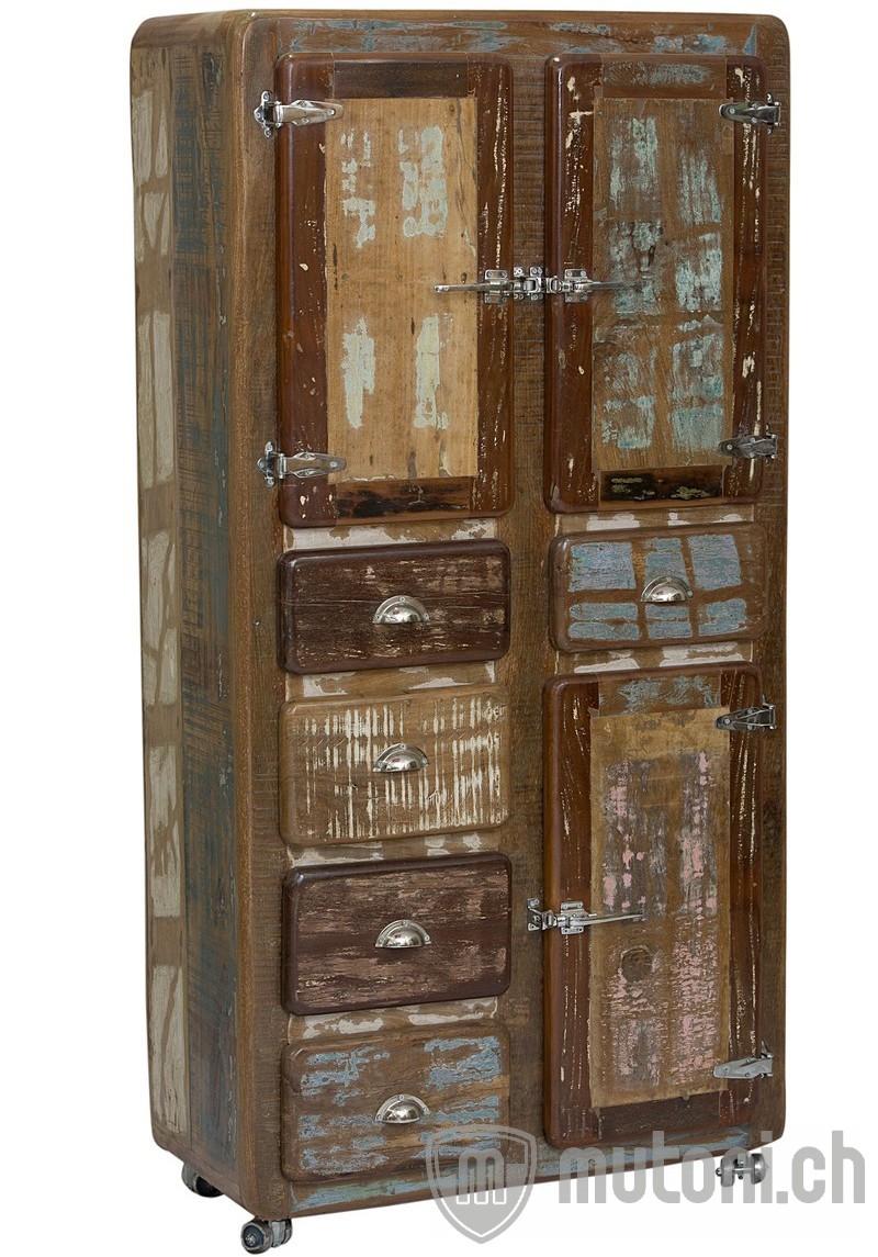 schrank fridge colored vintage bunt schr nke schr nke vitrinen wohnzimmer m bel. Black Bedroom Furniture Sets. Home Design Ideas