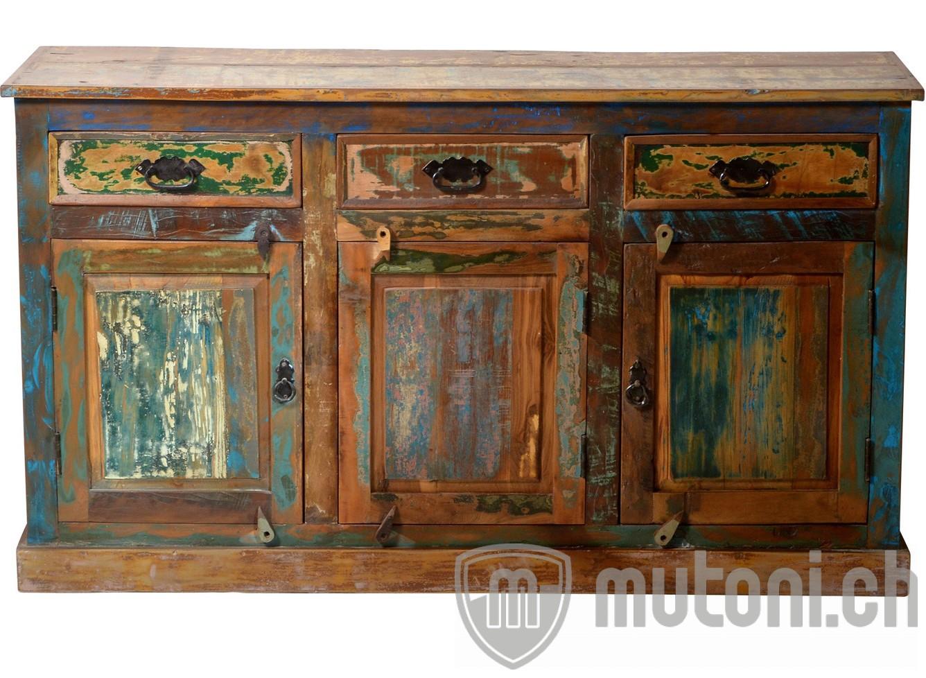 sideboard vintage colored agra bunt 140x80 mutoni living. Black Bedroom Furniture Sets. Home Design Ideas