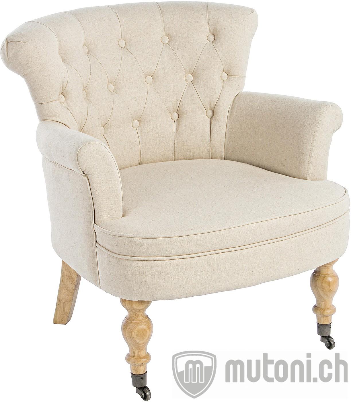 Sessel arlette vintage 2246 beige mutoni lifestyle for Wohnzimmer sessel vintage