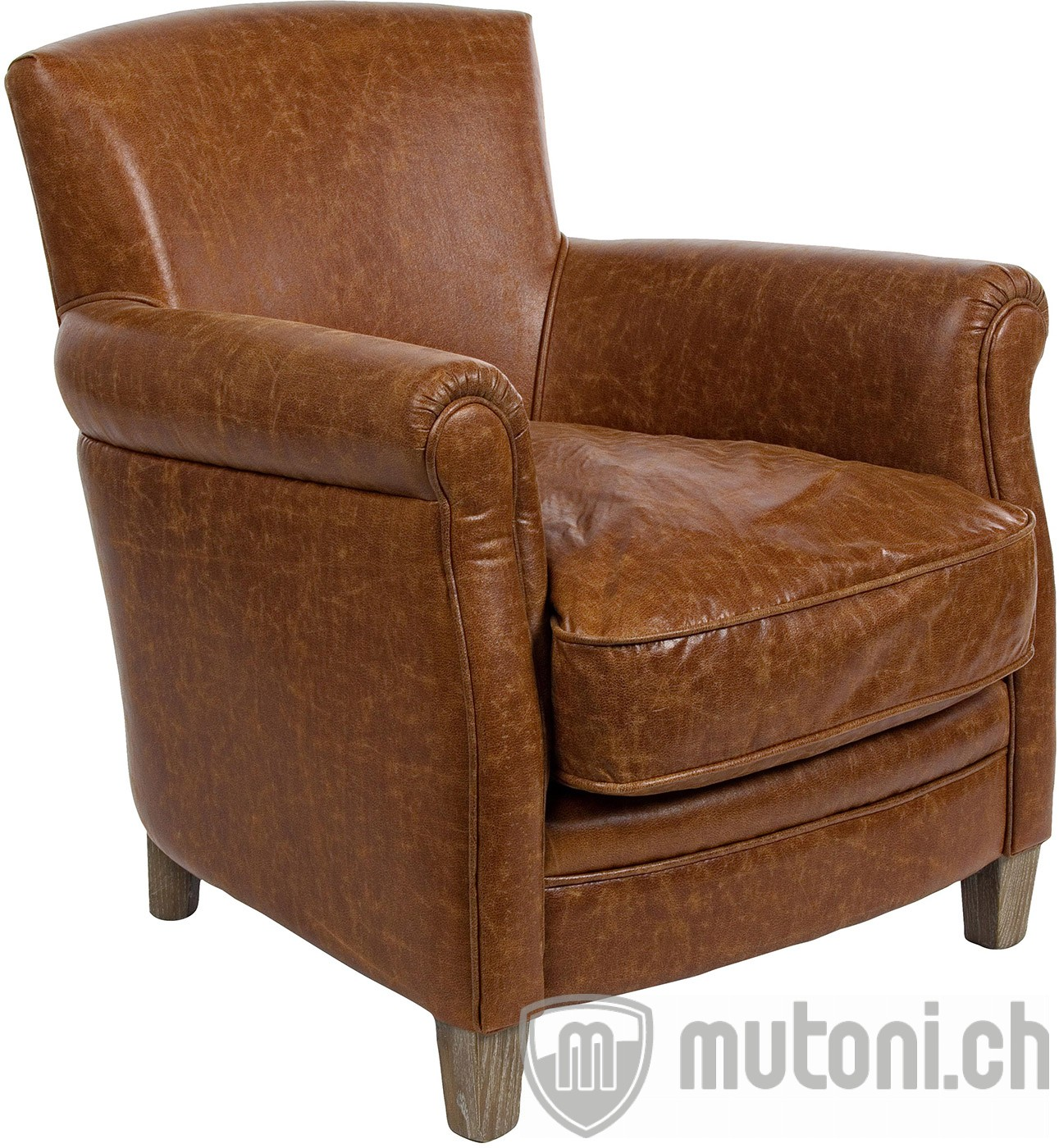 Sessel nebraska braun vintage mutoni lifestyle mutoni for Wohnzimmer sessel vintage