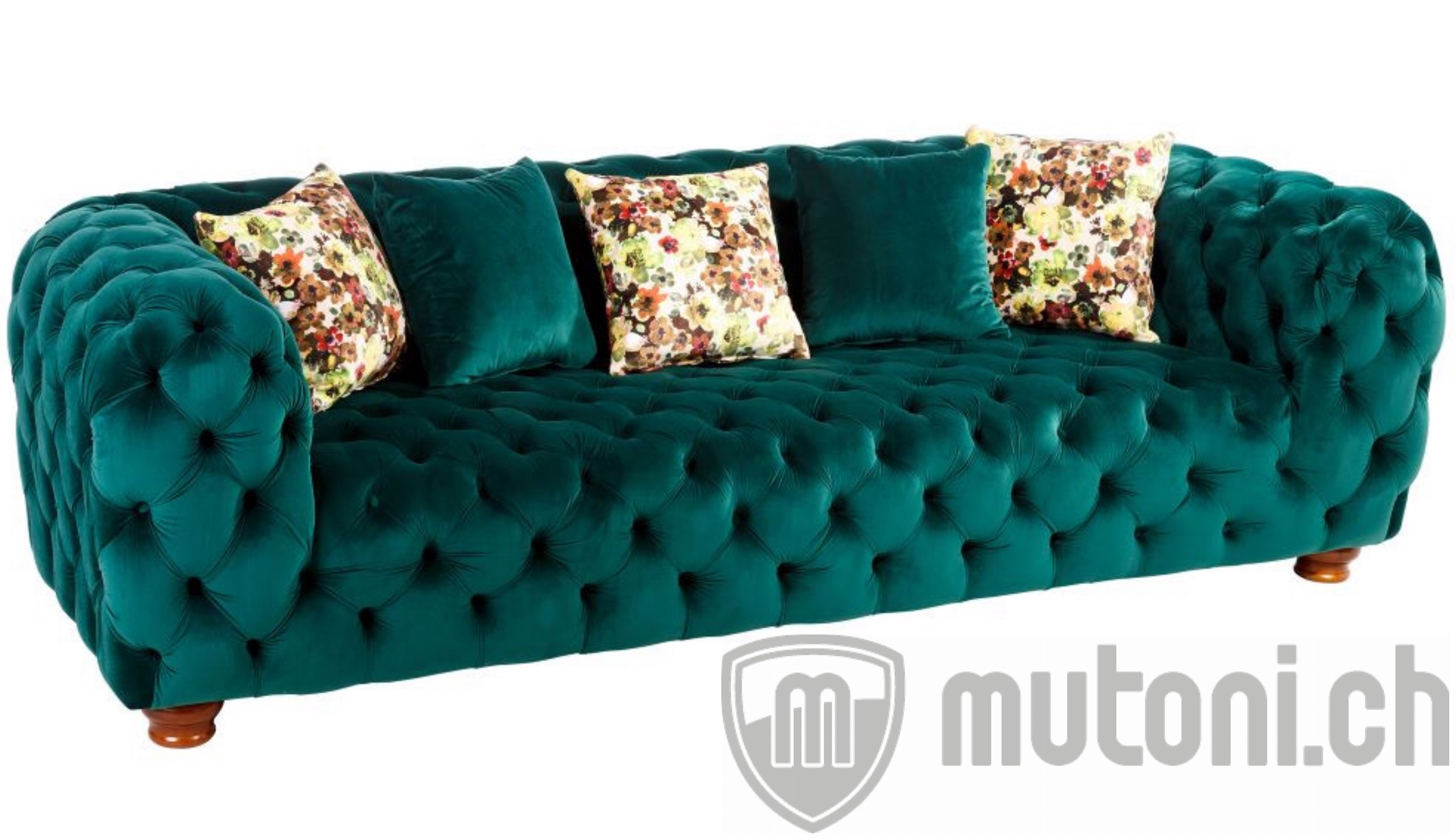 chesterfield sofa opulent gr n 250 mutoni vintage. Black Bedroom Furniture Sets. Home Design Ideas
