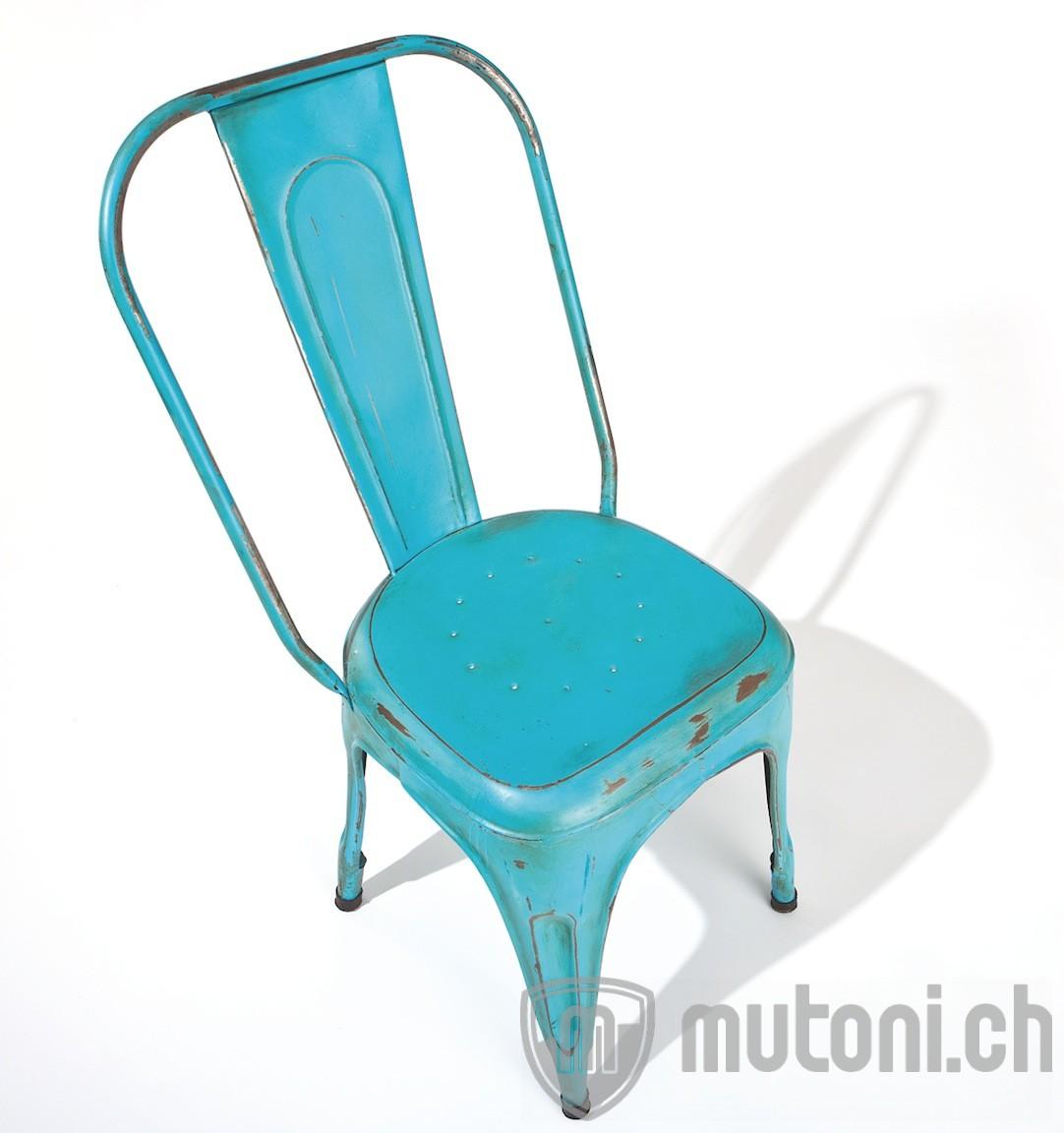 metallstuhl industry t rkis blau 4er set mutoni. Black Bedroom Furniture Sets. Home Design Ideas
