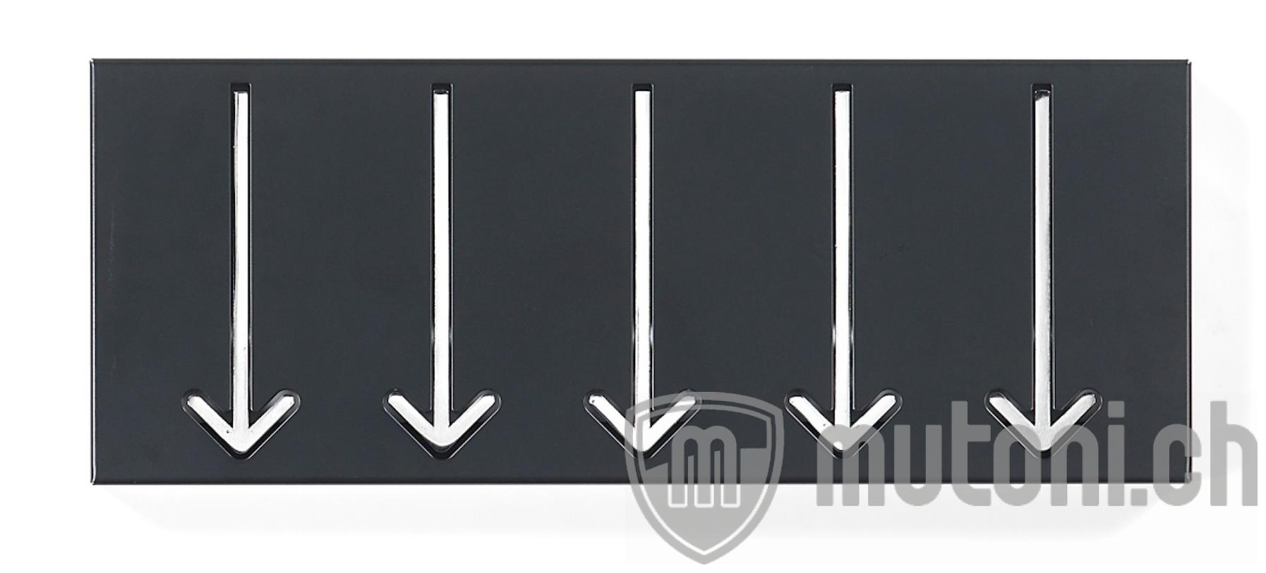 wandgarderobe pfeil 44x17 schwarz mutoni design mutoni. Black Bedroom Furniture Sets. Home Design Ideas
