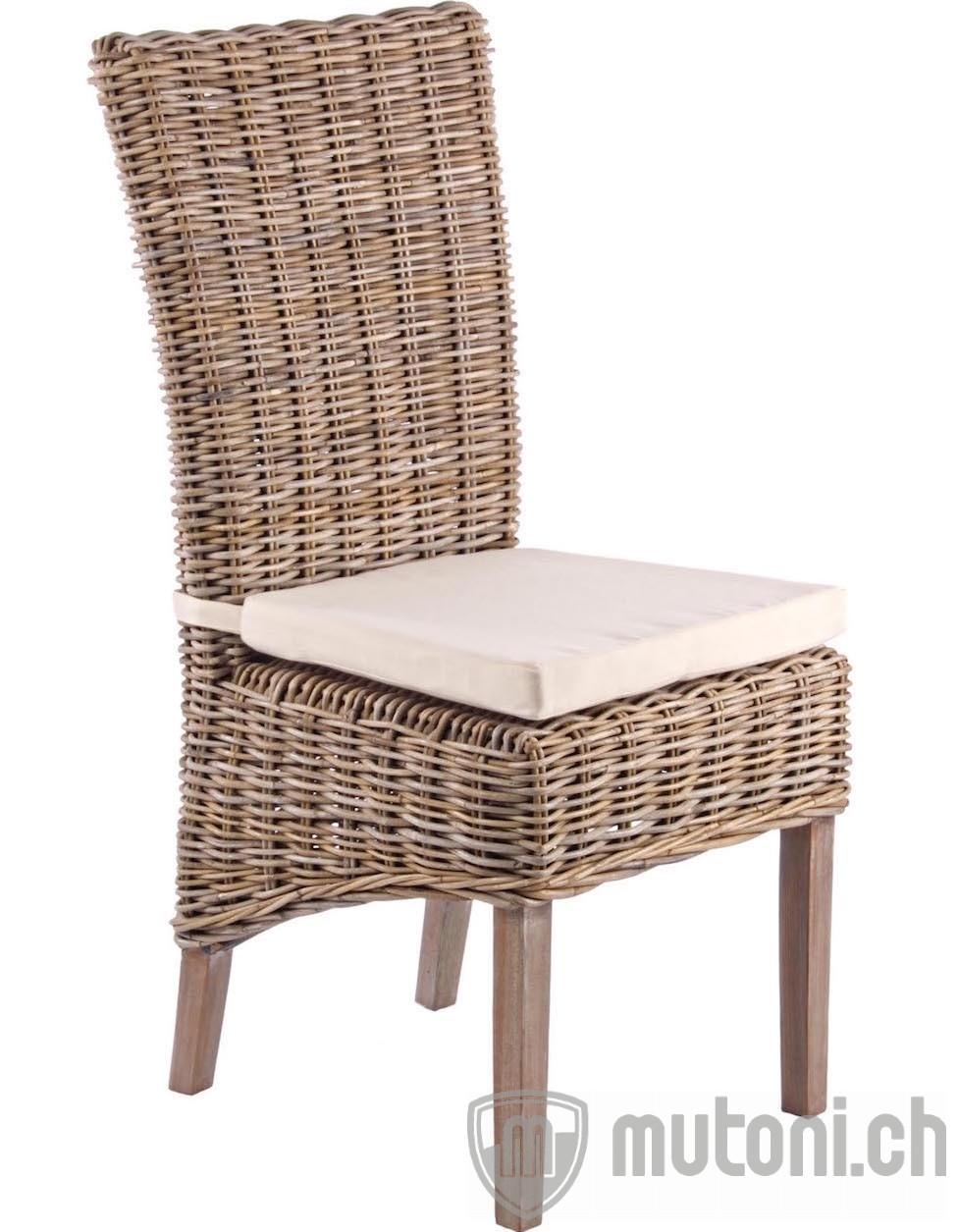gartenstuhl rattan mit kissen luzia mutoni garten deluxe mutoni m bel. Black Bedroom Furniture Sets. Home Design Ideas