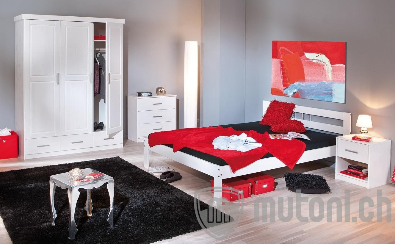 bett reto 140x200cm weiss mutoni design mutoni m bel. Black Bedroom Furniture Sets. Home Design Ideas