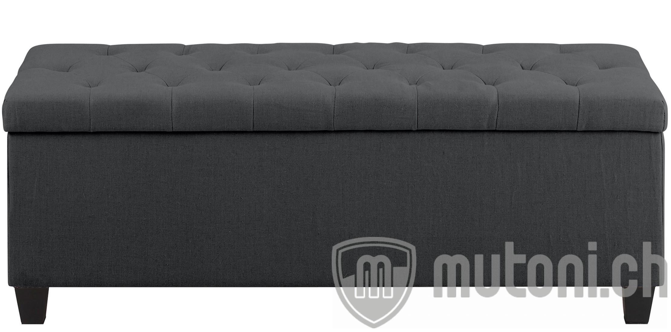 polsterbank capitano mit stauraum grau mutoni design. Black Bedroom Furniture Sets. Home Design Ideas