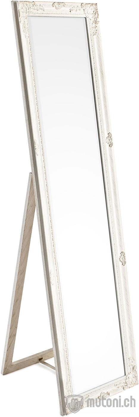 Standspiegel miro mit rahmen weiss 40x160 mutoni for Spiegel 40x160