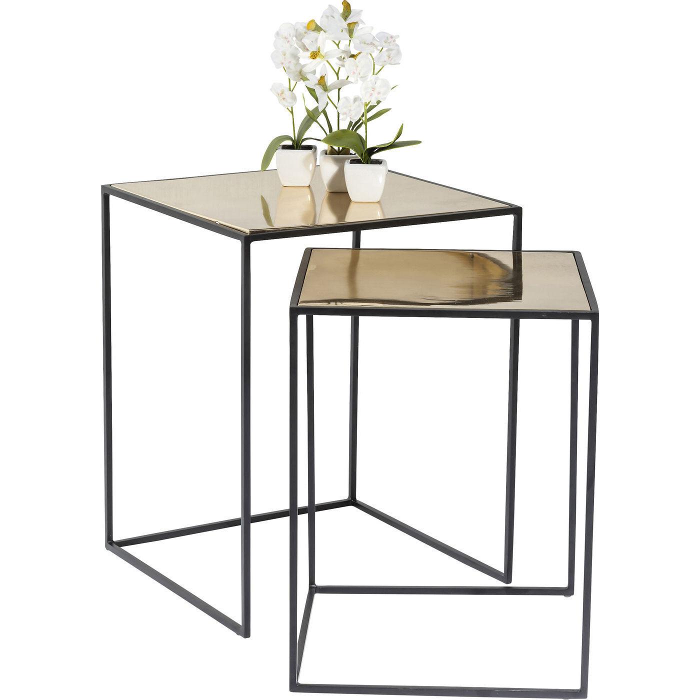 beistelltisch treasure gold 2 set kare design mutoni m bel. Black Bedroom Furniture Sets. Home Design Ideas