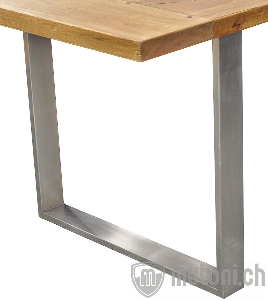 tischgestell edelstahl u form 2er set tischgestelle kanada kanada tischsystem. Black Bedroom Furniture Sets. Home Design Ideas