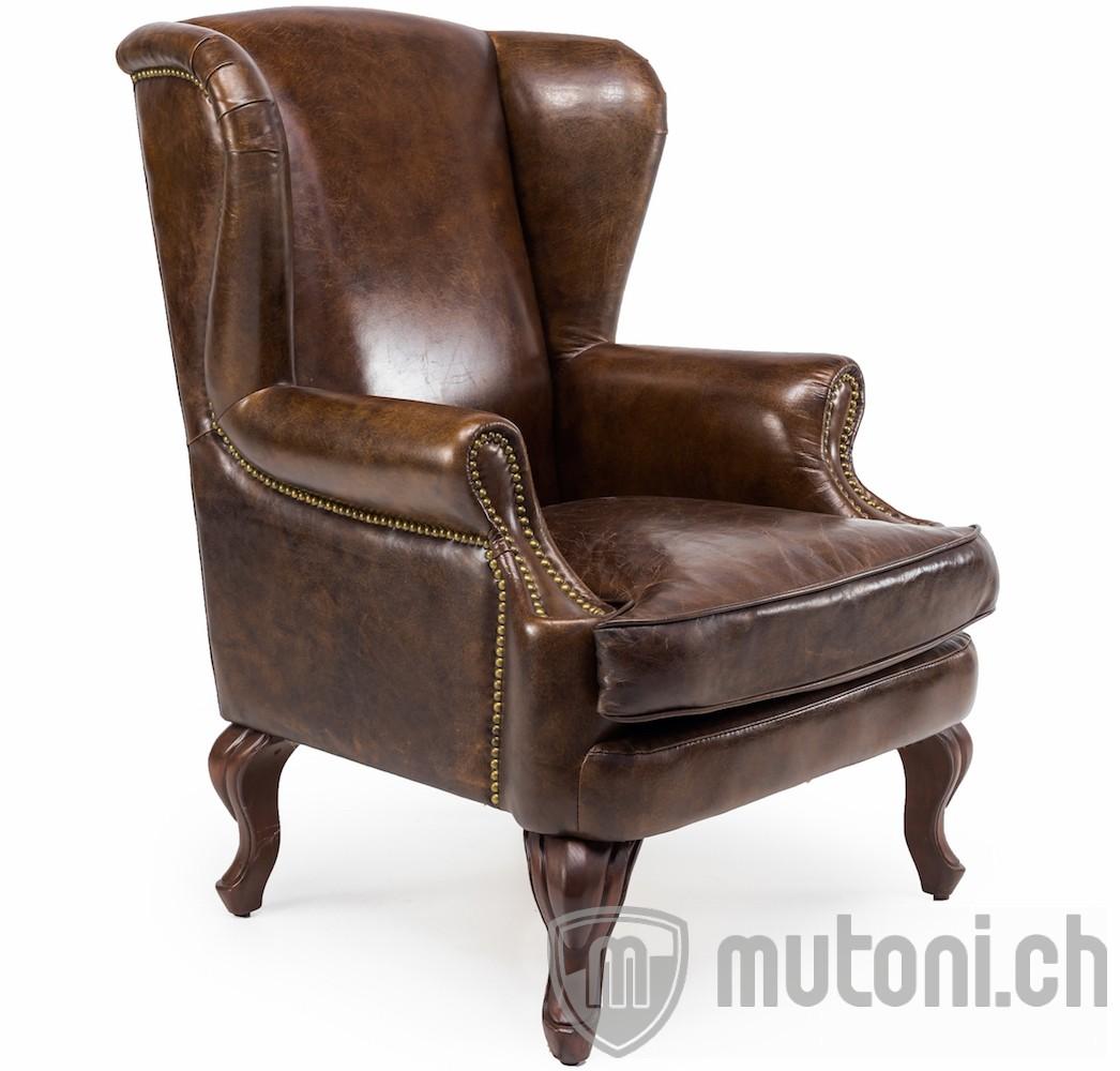 ohrensessel lancaster in vintage leder ohrensessel sessel wohnzimmer m bel mutoni m bel. Black Bedroom Furniture Sets. Home Design Ideas
