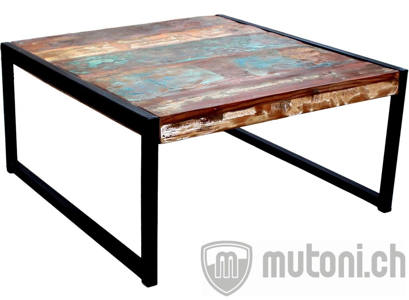 table basse vintage colored agra color noir antique 70x70 mutoni living mutoni m bel. Black Bedroom Furniture Sets. Home Design Ideas