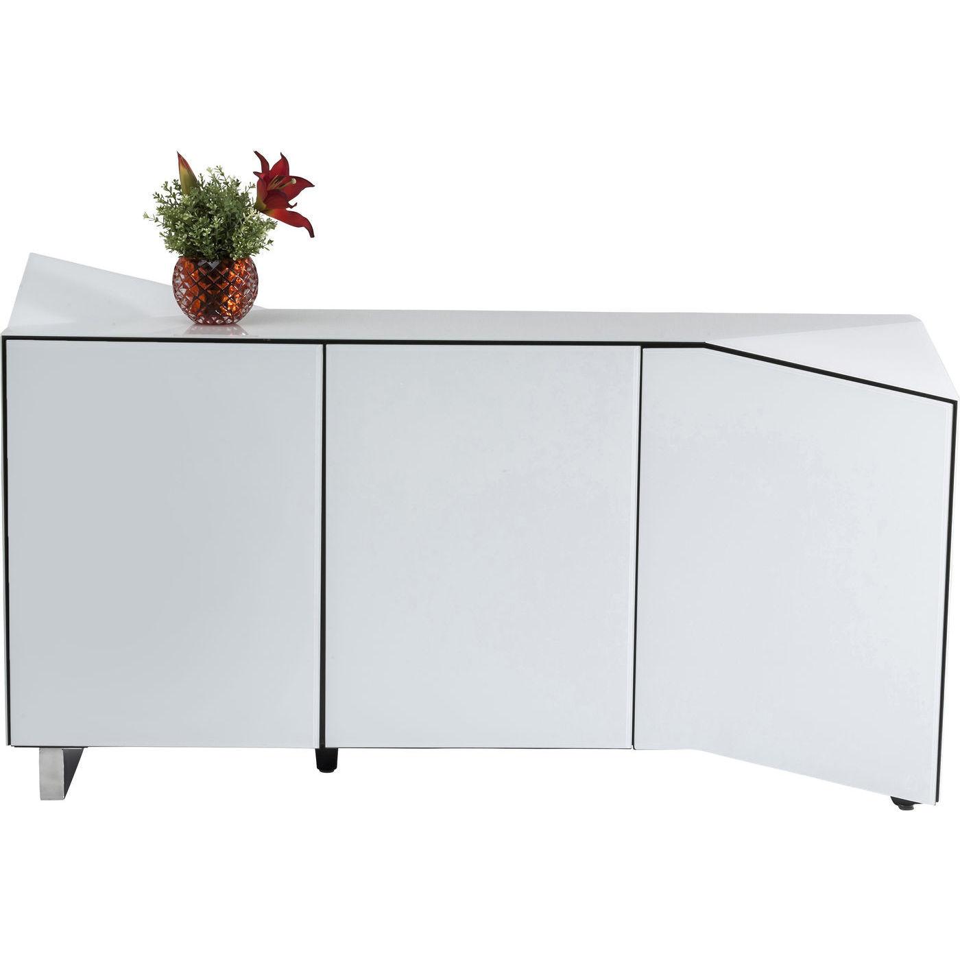 Sideboard triangle white kare design mutoni m bel for Kare design schweiz