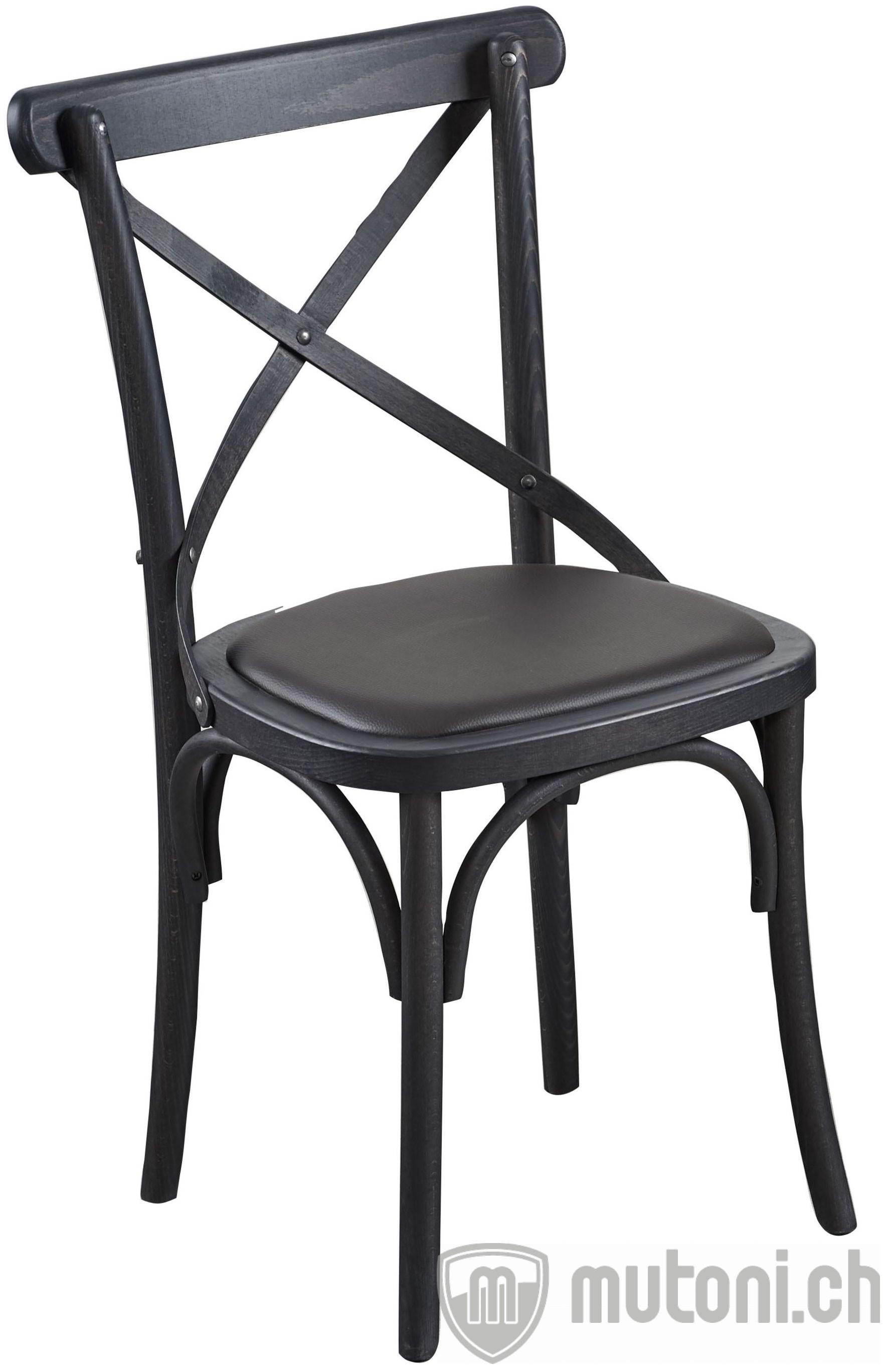 holzstuhl alexander schwarz dialma brown mutoni m bel. Black Bedroom Furniture Sets. Home Design Ideas