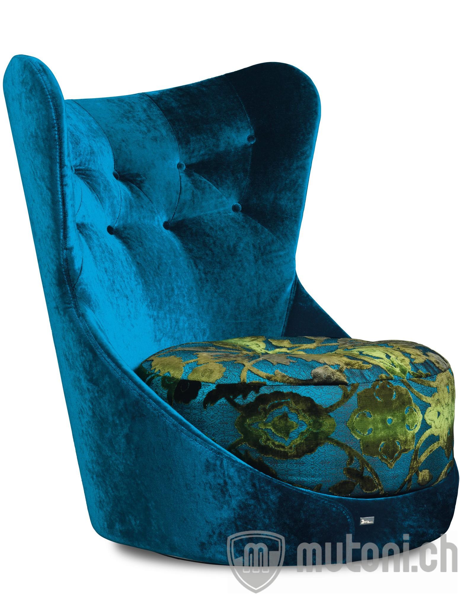 drehsessel cocoa island enzianblau bretz mutoni m bel. Black Bedroom Furniture Sets. Home Design Ideas