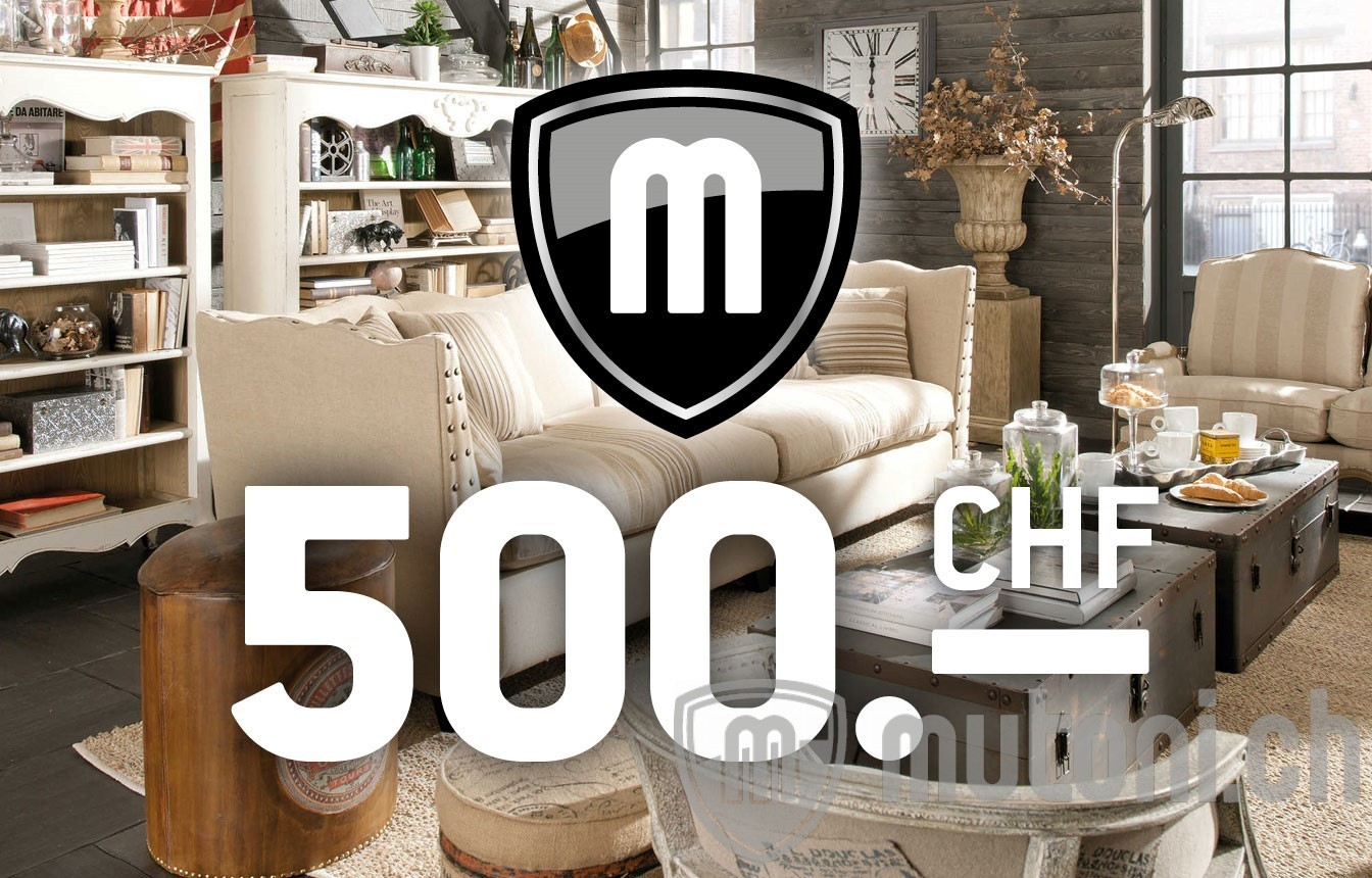 gutschein chf 500 gutscheine mutoni m bel. Black Bedroom Furniture Sets. Home Design Ideas