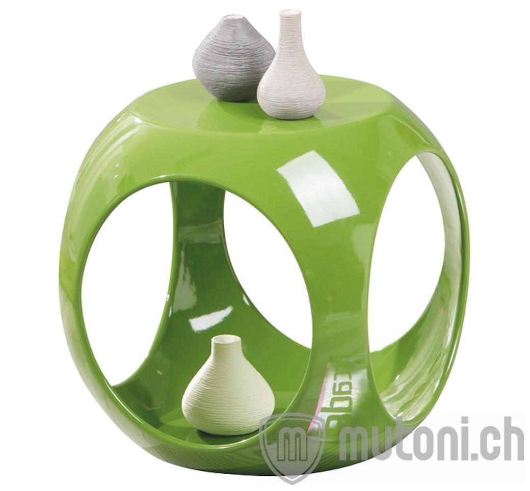 Beistelltisch bowle gr n hochglanz 40x40 mutoni design for Beistelltisch 40 x 80