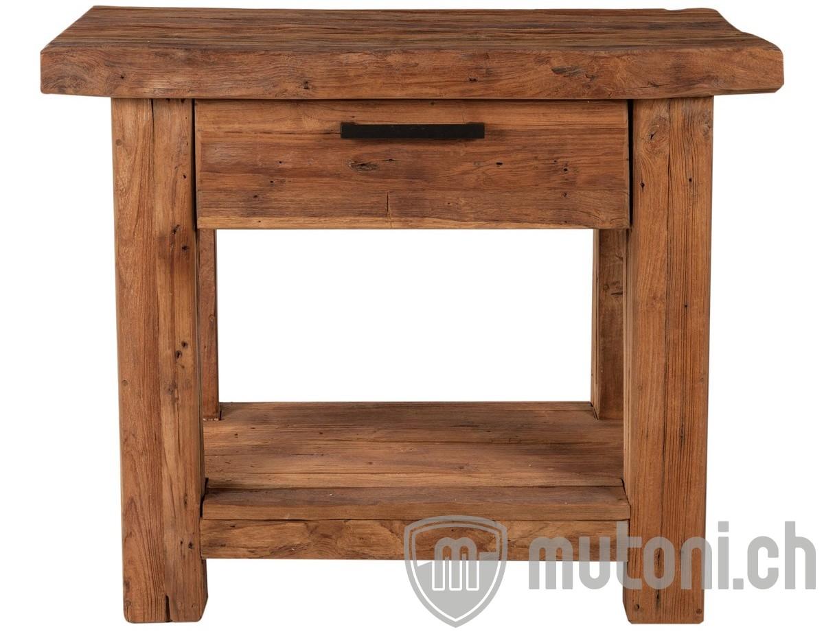 telefontisch unique wood vintage natur 90 mutoni living mutoni m bel. Black Bedroom Furniture Sets. Home Design Ideas