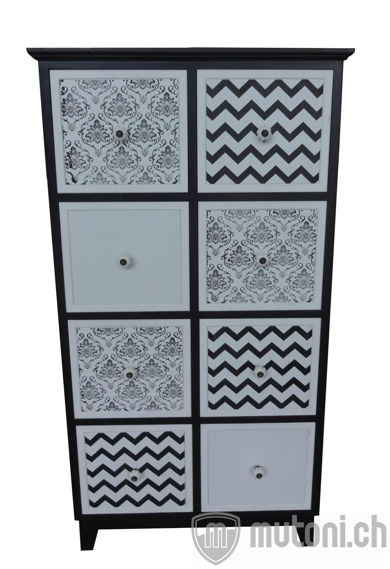 kommode seashell schwarz weiss kommoden kommoden sideboards wohnzimmer m bel mutoni. Black Bedroom Furniture Sets. Home Design Ideas