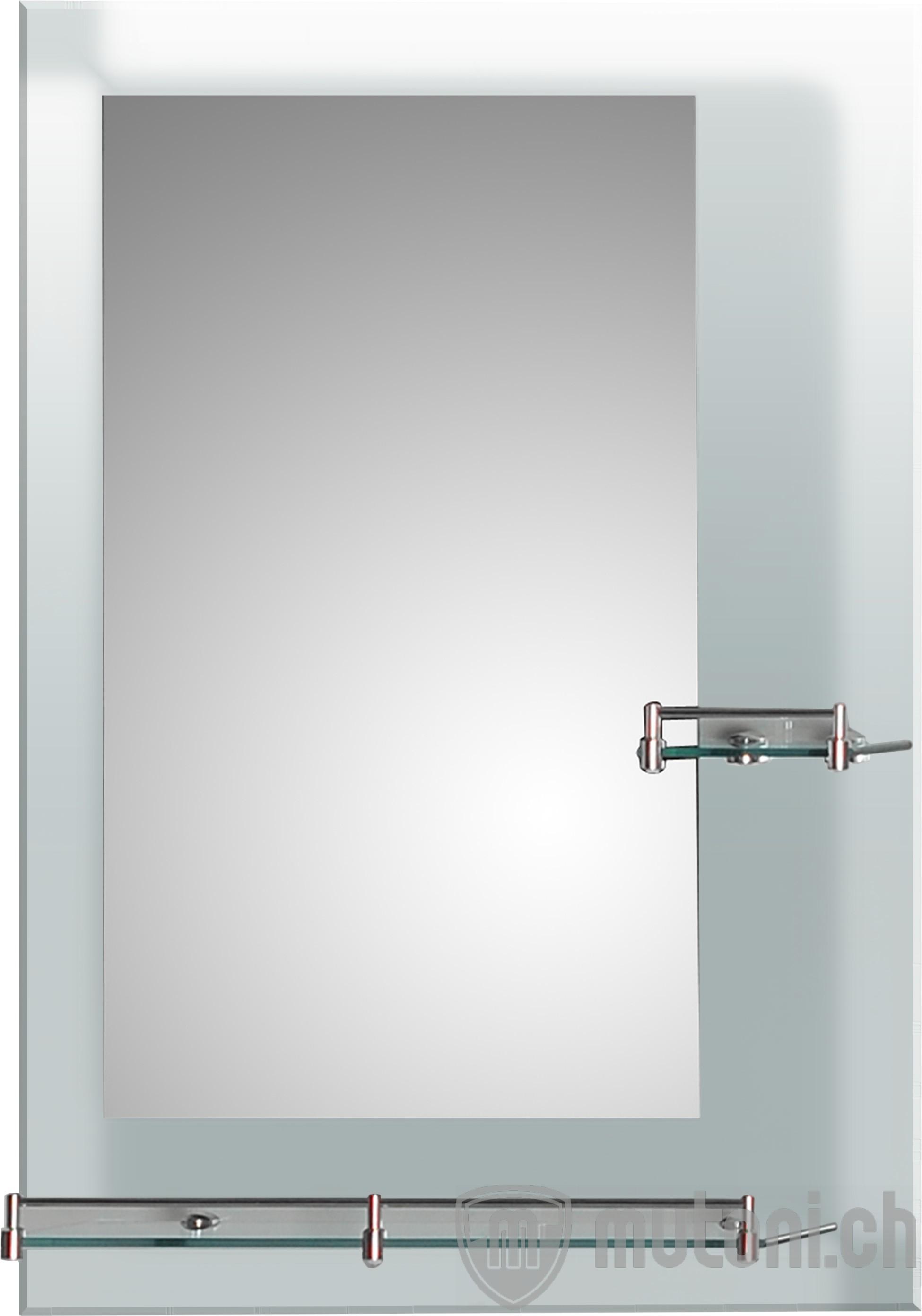 wandspiegel mit 2 ablagen kosmetikspiegel spiegel accessoires mutoni m bel. Black Bedroom Furniture Sets. Home Design Ideas