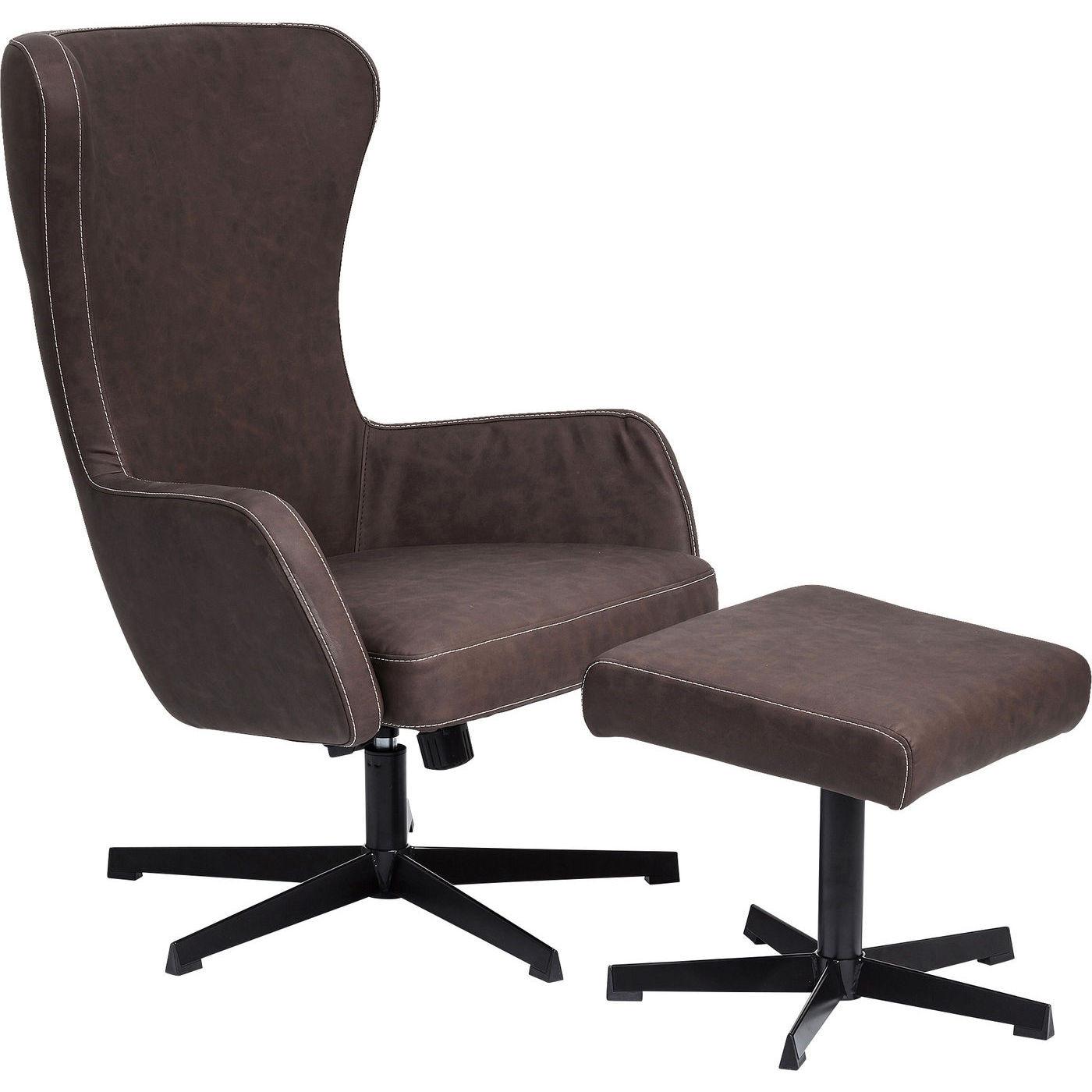drehsessel hocker montana braun kare design mutoni m bel. Black Bedroom Furniture Sets. Home Design Ideas