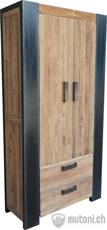 schrank boss factory vintage antikfinish 110x40 schr nke schr nke vitrinen wohnzimmer. Black Bedroom Furniture Sets. Home Design Ideas