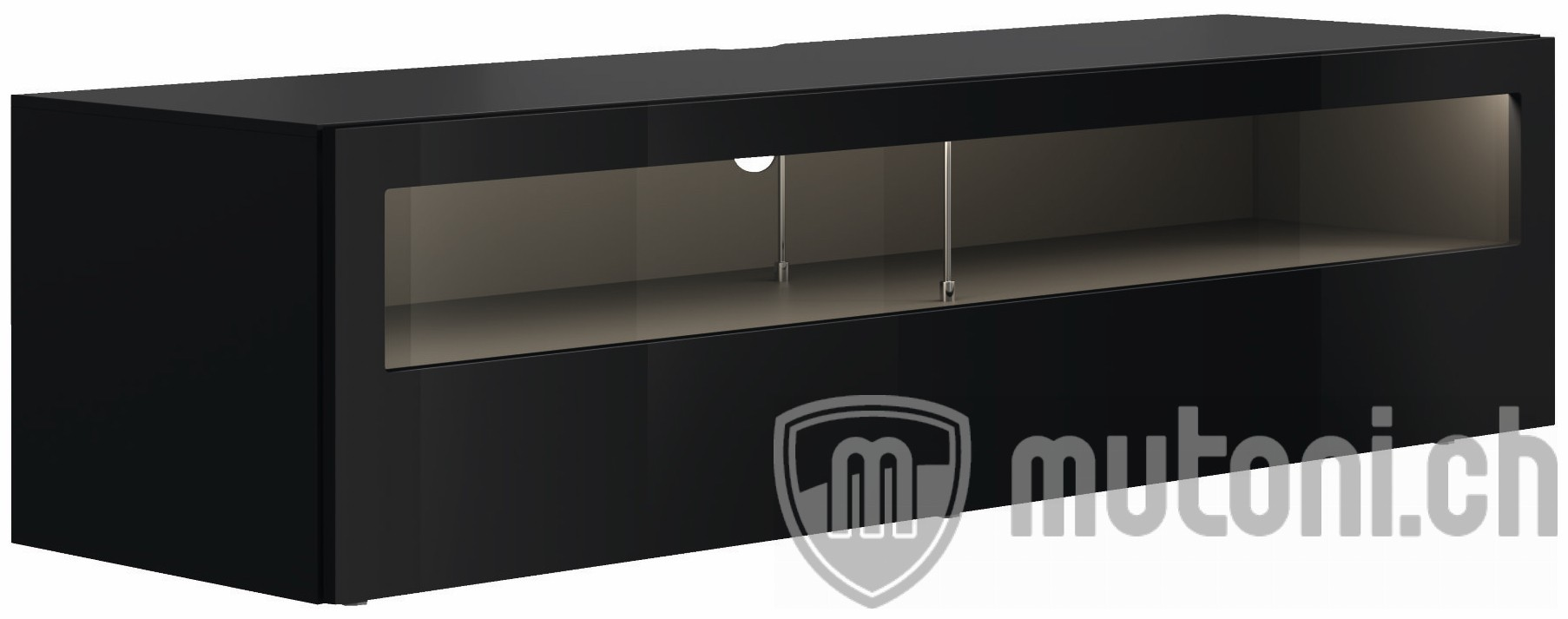 lowboard now vision mit glasausschnitt 211x53cm h lsta mutoni m bel. Black Bedroom Furniture Sets. Home Design Ideas