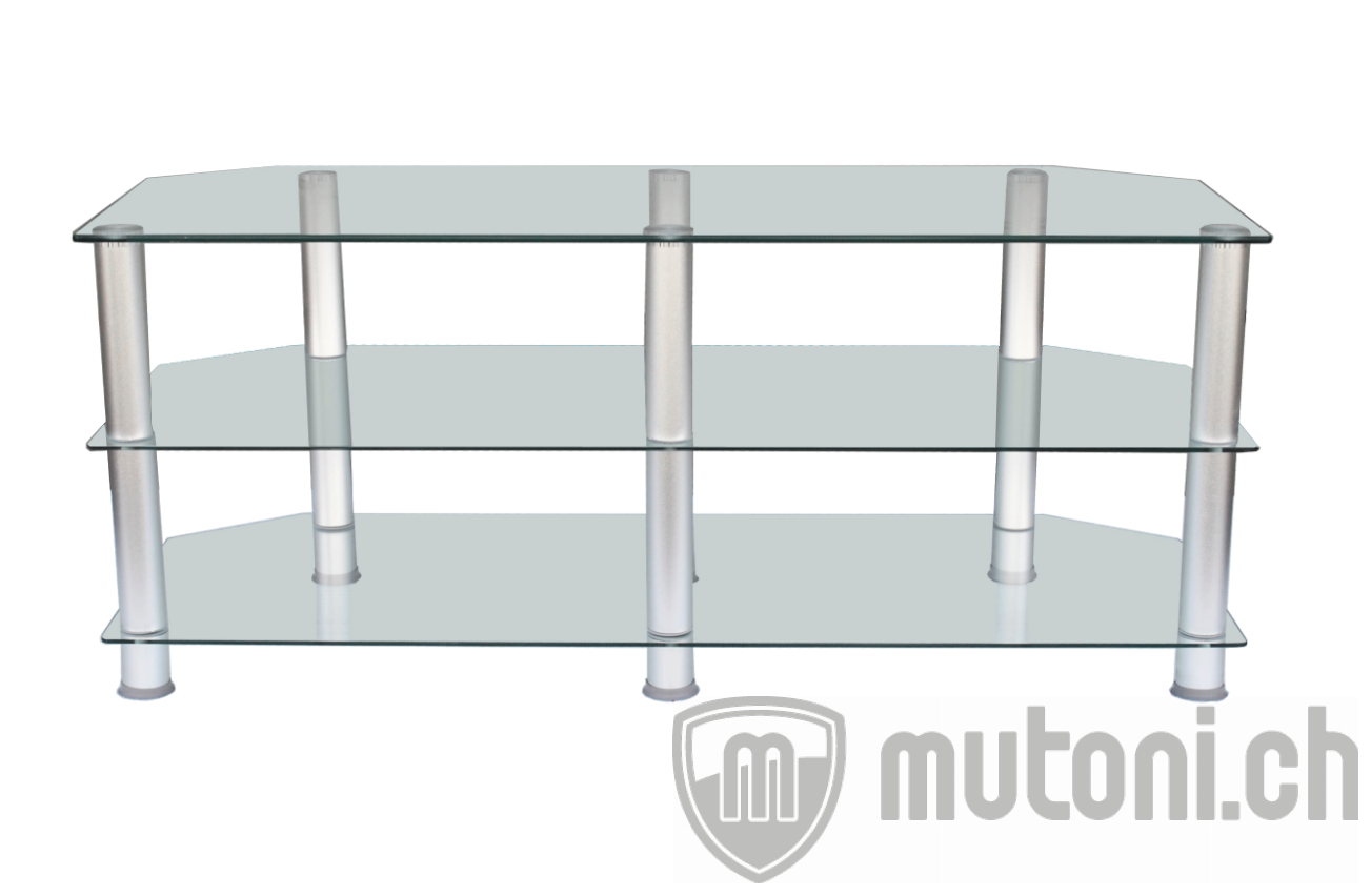 tv m bel glas transparent classic 120cm mutoni design. Black Bedroom Furniture Sets. Home Design Ideas