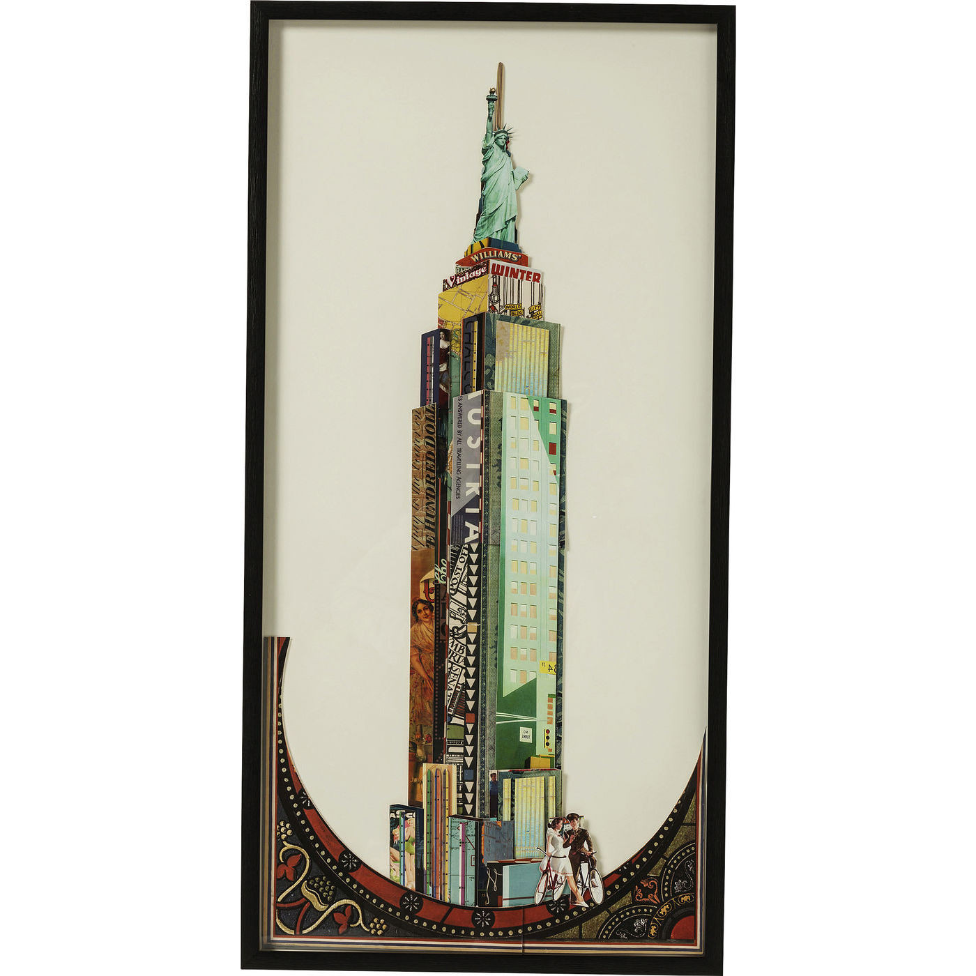 bild frame art empire state building 100x50cm kare design mutoni m bel. Black Bedroom Furniture Sets. Home Design Ideas